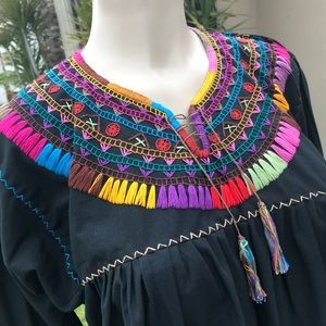 Handmade Authentic Mexican Embroidered Blouse